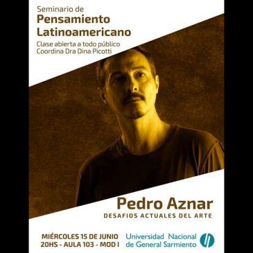 Conferencia de Pedro Aznar en la UNGS