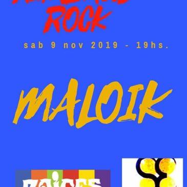 Maloik durante el Rimbaud-Rock 7